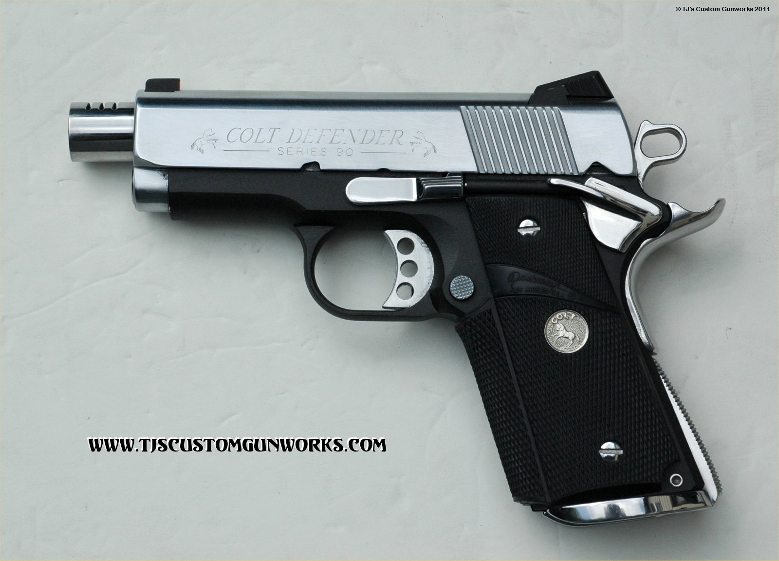 Custom Matching Pair Of Colt Defender Series  Two Tone S