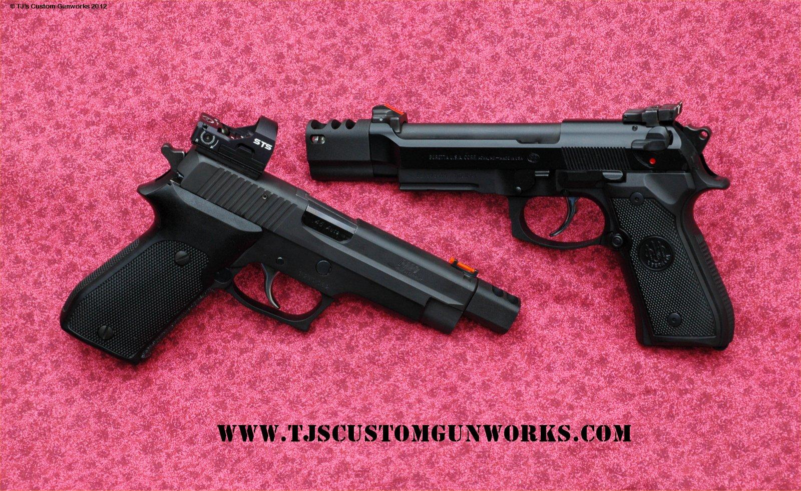 Custom Compensated Beretta M992fs Sig Sauer P220