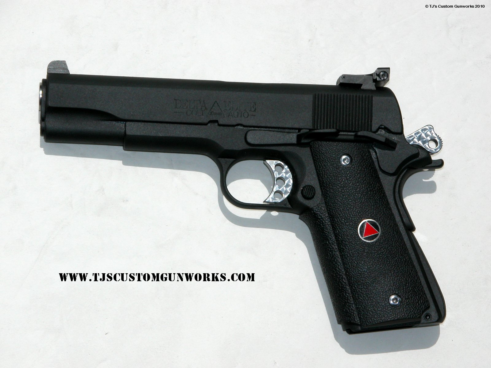 Custom Black Teflon Colt Delta Elite 10mm Ambidextrous