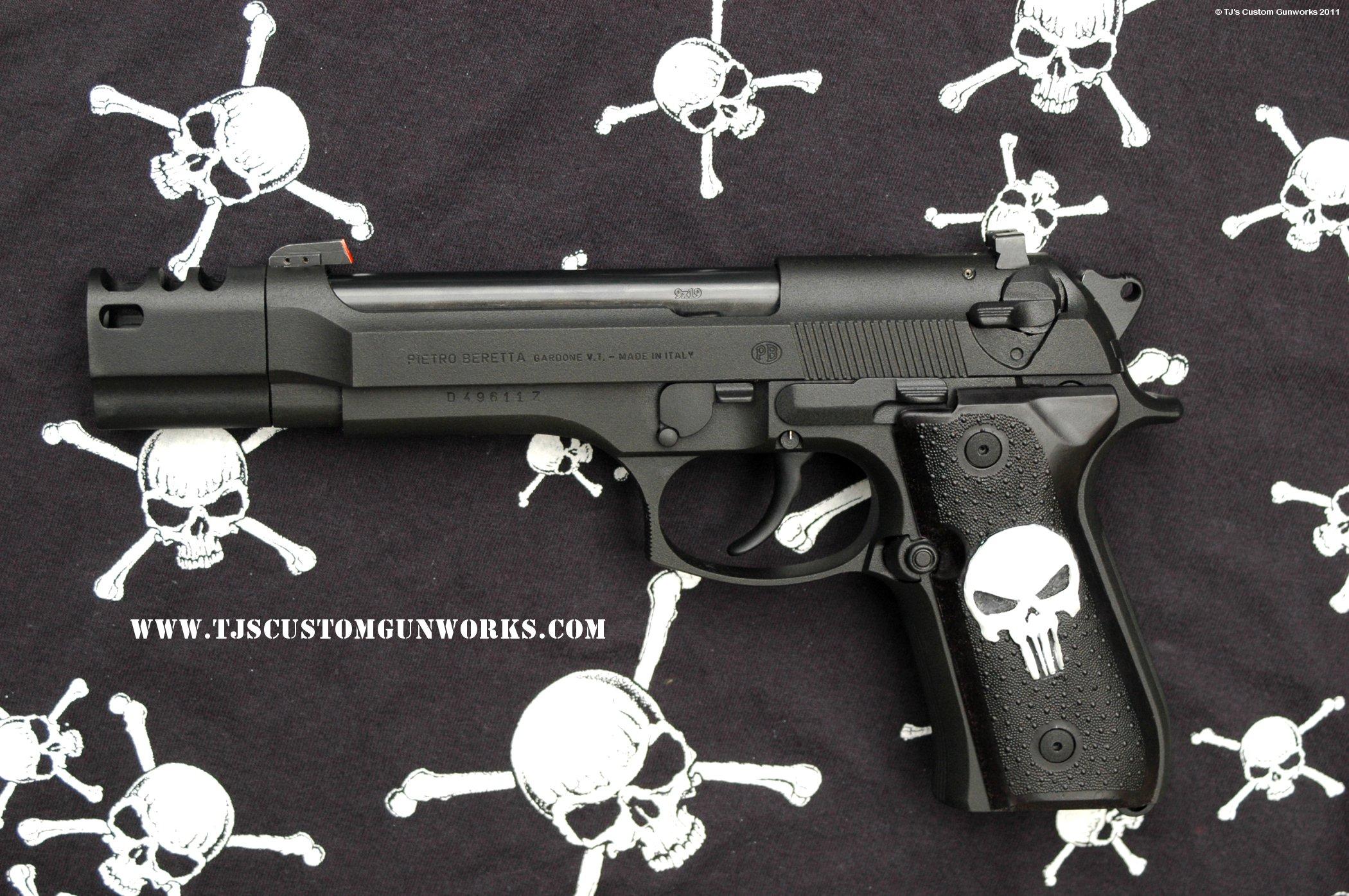 Custom Comped Black Teflon Beretta 92fs Amp Sig Sauer P220