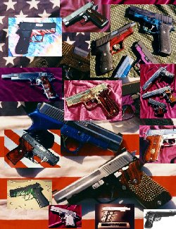 Collage of TJ's Custom Pistols
