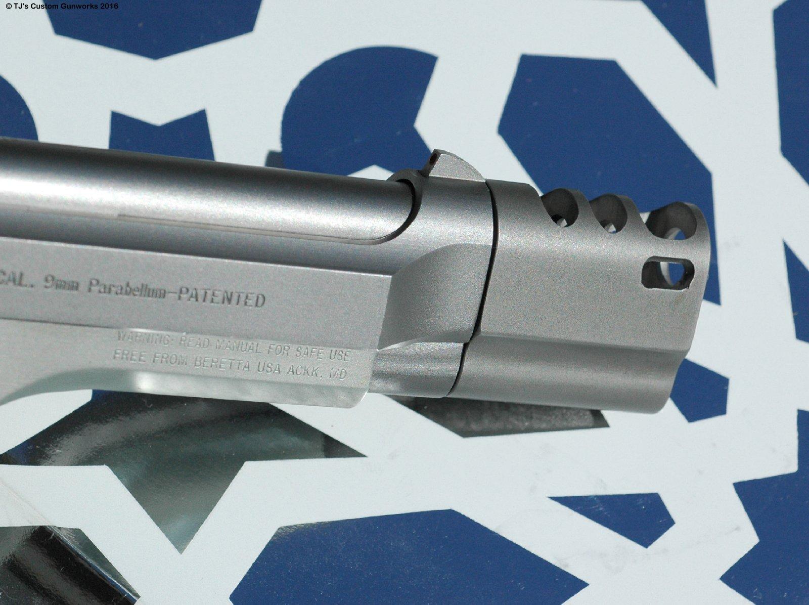 Custom Compensated Stainless INOX Beretta 92FS 9mm