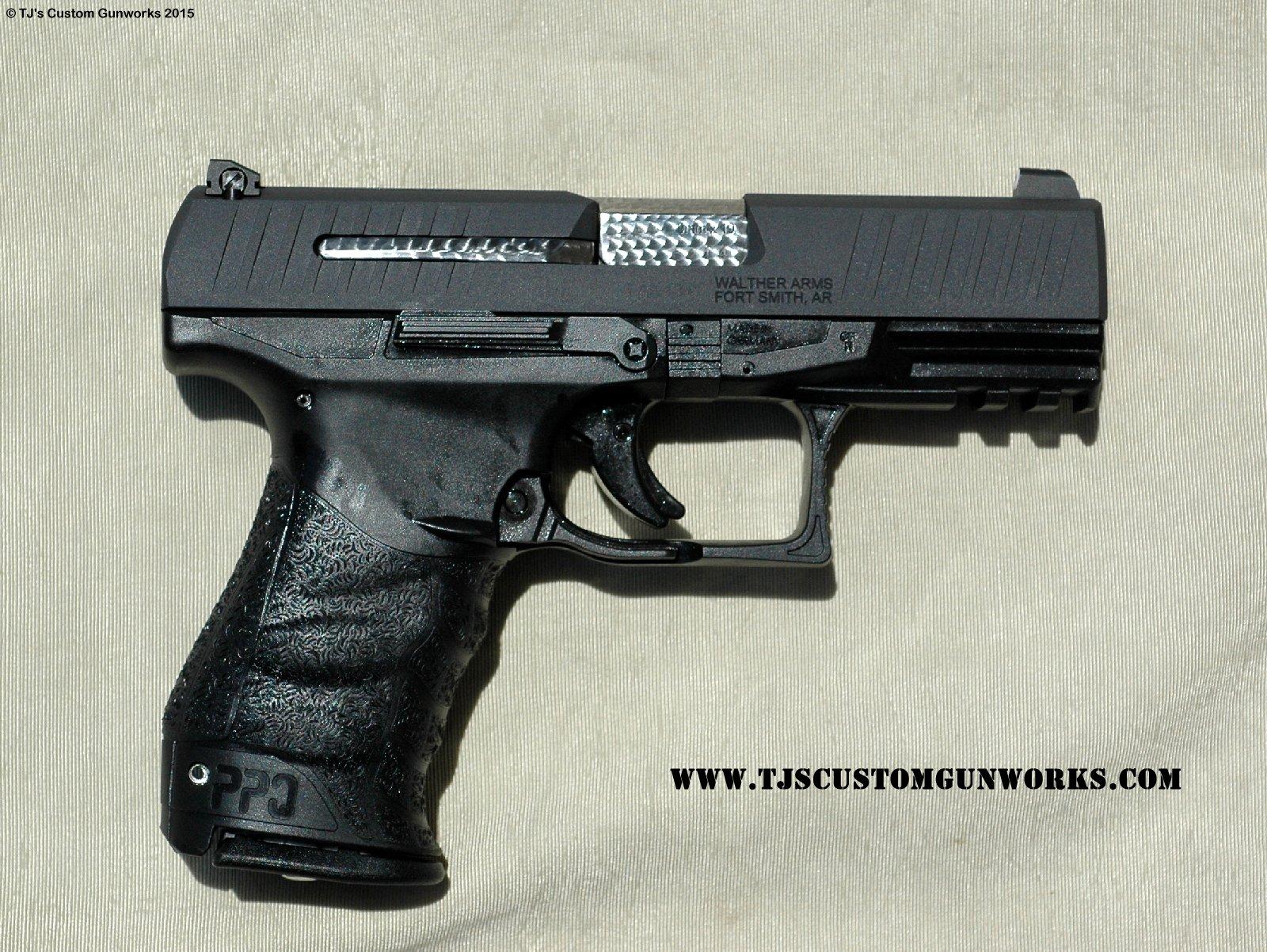 Custom Walther PPQ 9mm Para Charcoal Gray Teflon