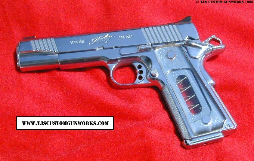 Custom Mirror Polish Hard Chrome Kimber 1911 45 Match