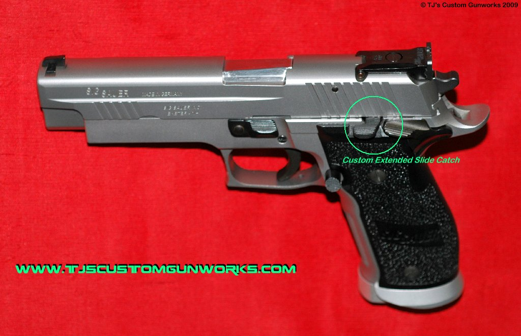 Sig Sauer X5 Stainless With Custom Extended Slide Catch